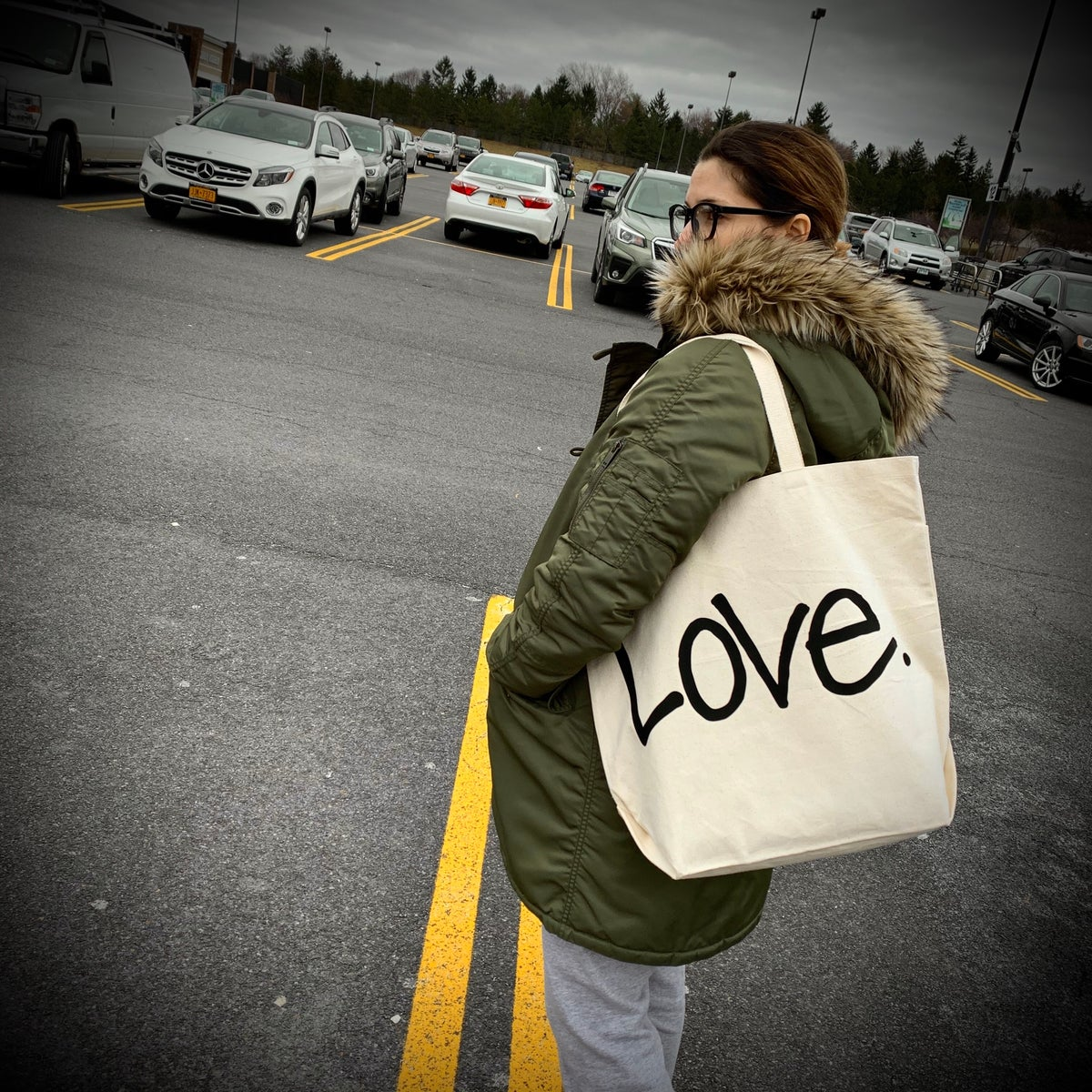 "Image of ""Love...period!"" Canvas Bags (2 size options)"