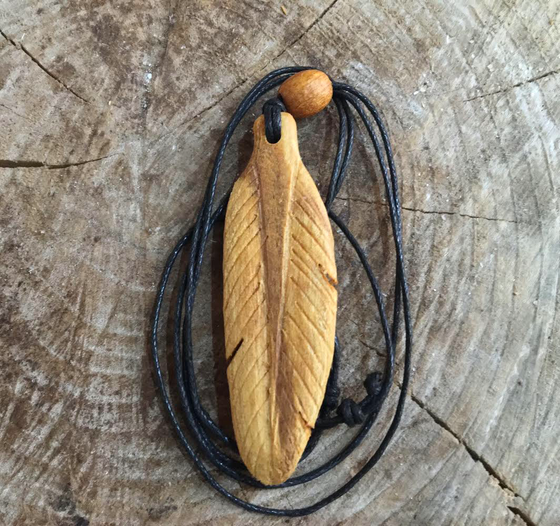 Image of Palo Santo Feather Pendant