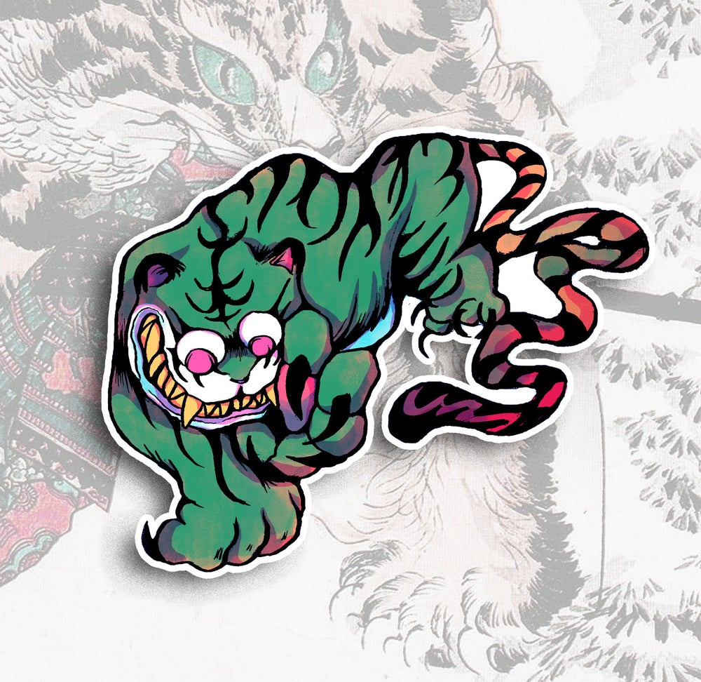 Image of Jade Tiger Sticker