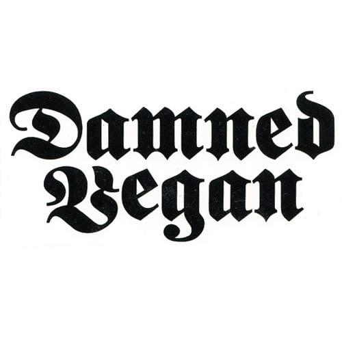 Image of Damned Vegan DECAL
