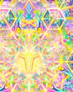"Image of ""TechnoColor Captivation"" [ Tapestries, Blankets, Prints ]"