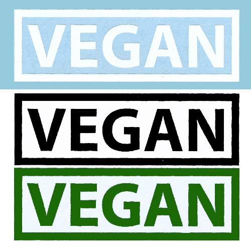 Image of Vegan Rectangle DECAL