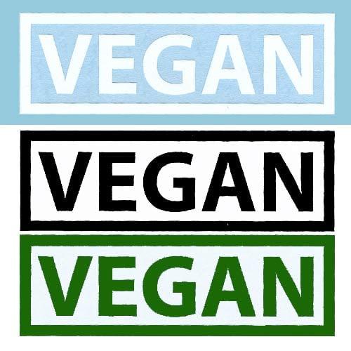 Image of Vegan Rectangle DECAL