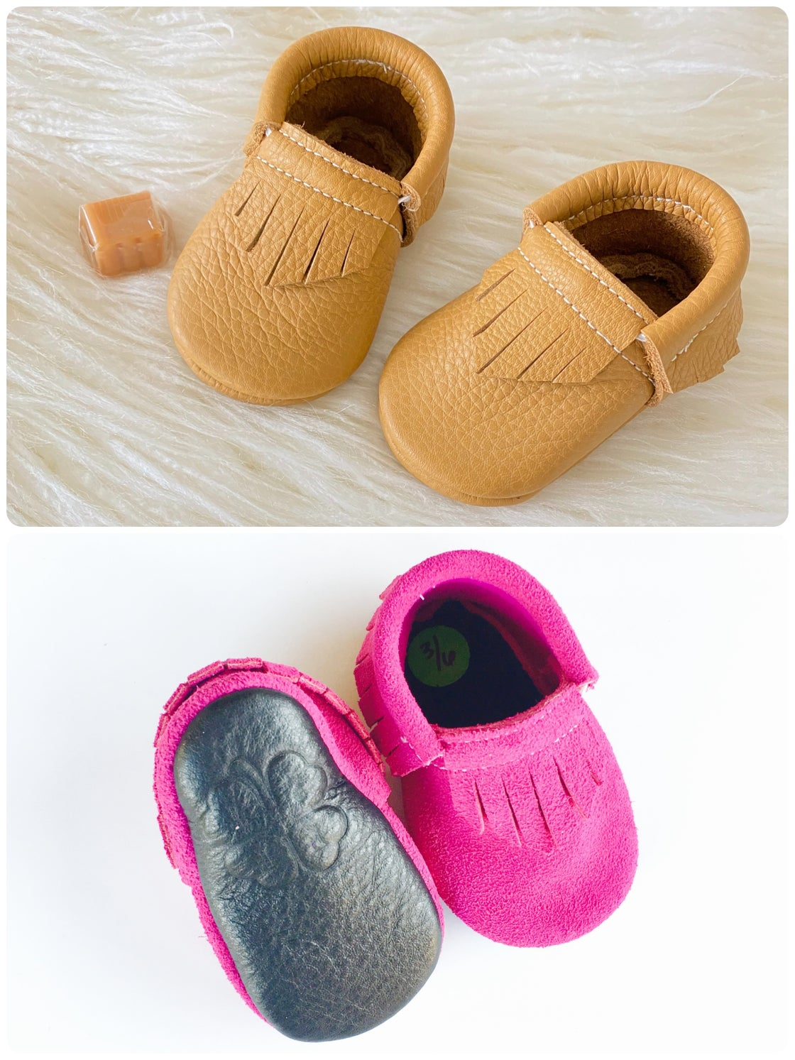 """Image of 4"""" soles (3-6 months)"""