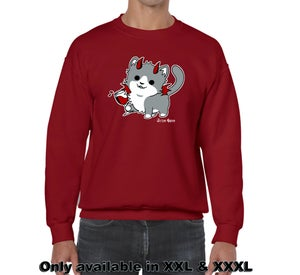 Image of WineKitty Sweatshirt (Red)