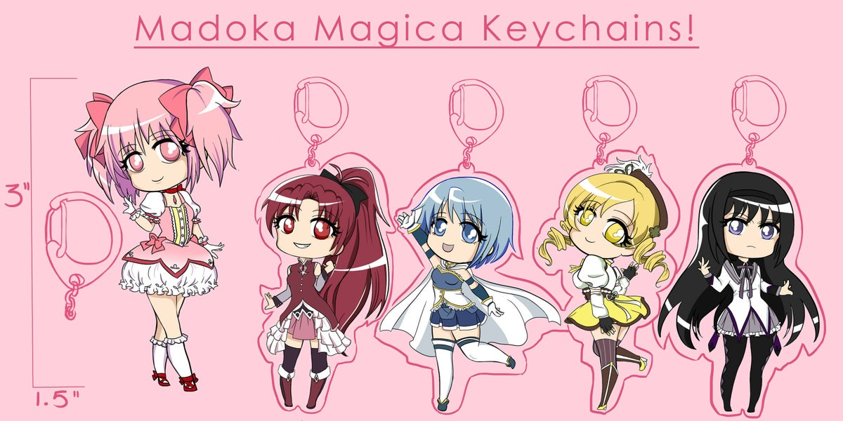 Madoka Magica Keychains
