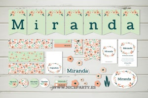 Image of Pack imprimible flores Miranda