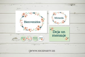 Image of Pack imprimible flores Miranda