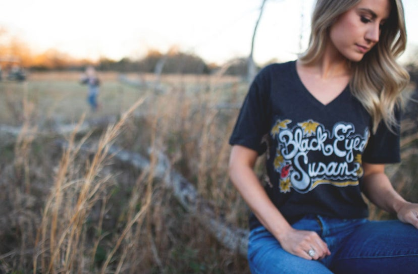 Image of Adult Black Eyed Susan V Neck