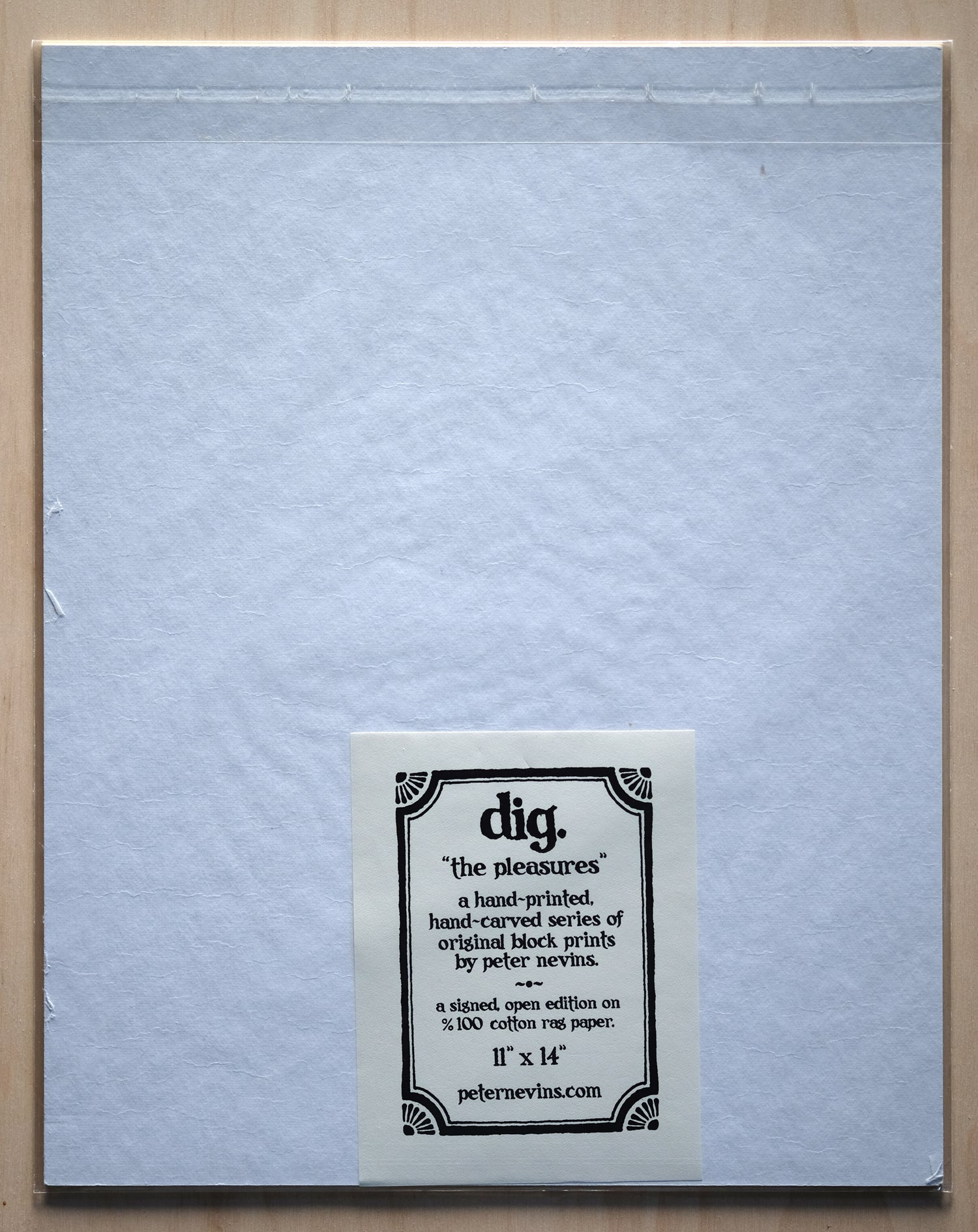 "Image of dig.  11""x14"" HAND-PRINTED ORIGINAL BLOCK PRINT"