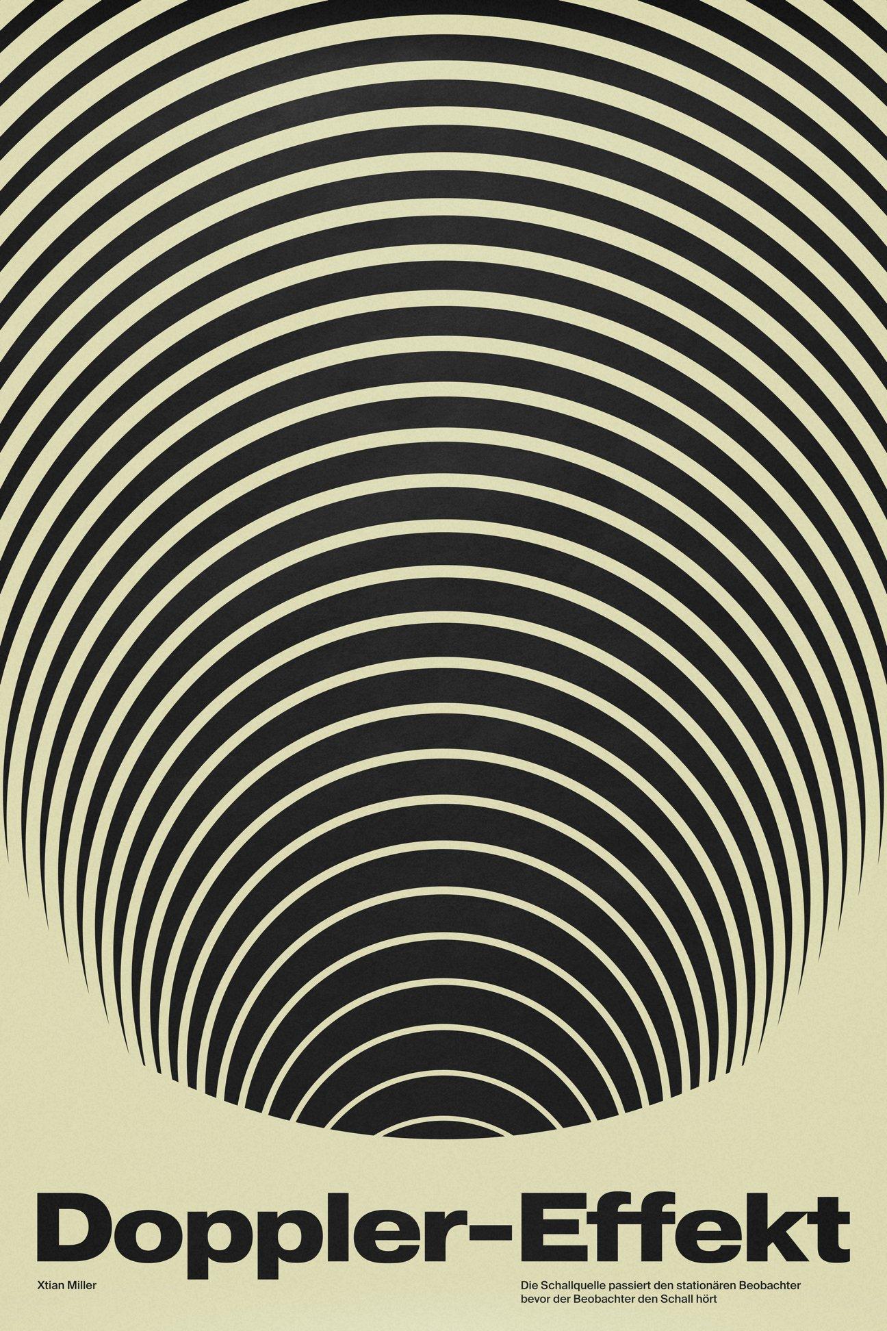 Doppler-Effekt SIGNAL A poster by Xtian Miller