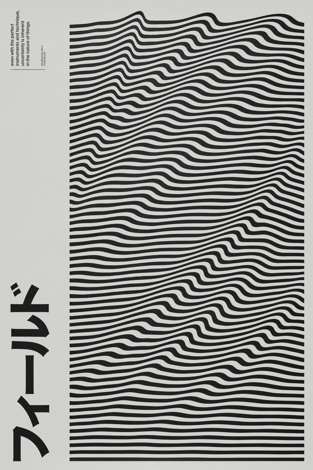 Delineation: Field SIGNAL A poster by Xtian Miller