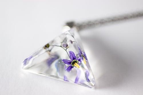 Image of Woody Nightshade (Solanum dulcamara) - Prism Necklace #4