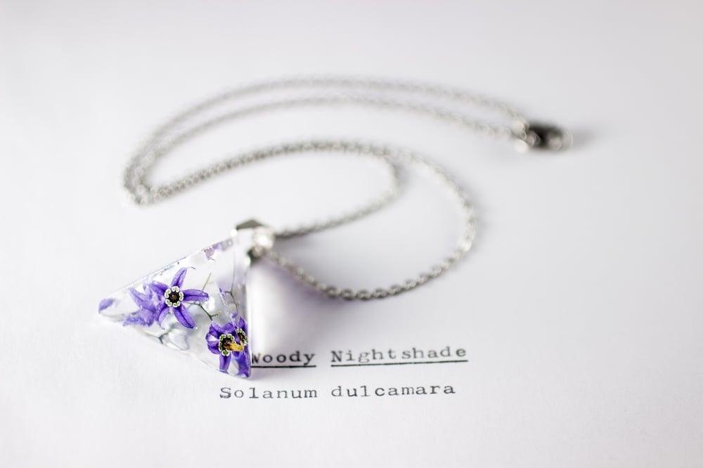 Image of Woody Nightshade (Solanum dulcamara) - Prism Necklace #5