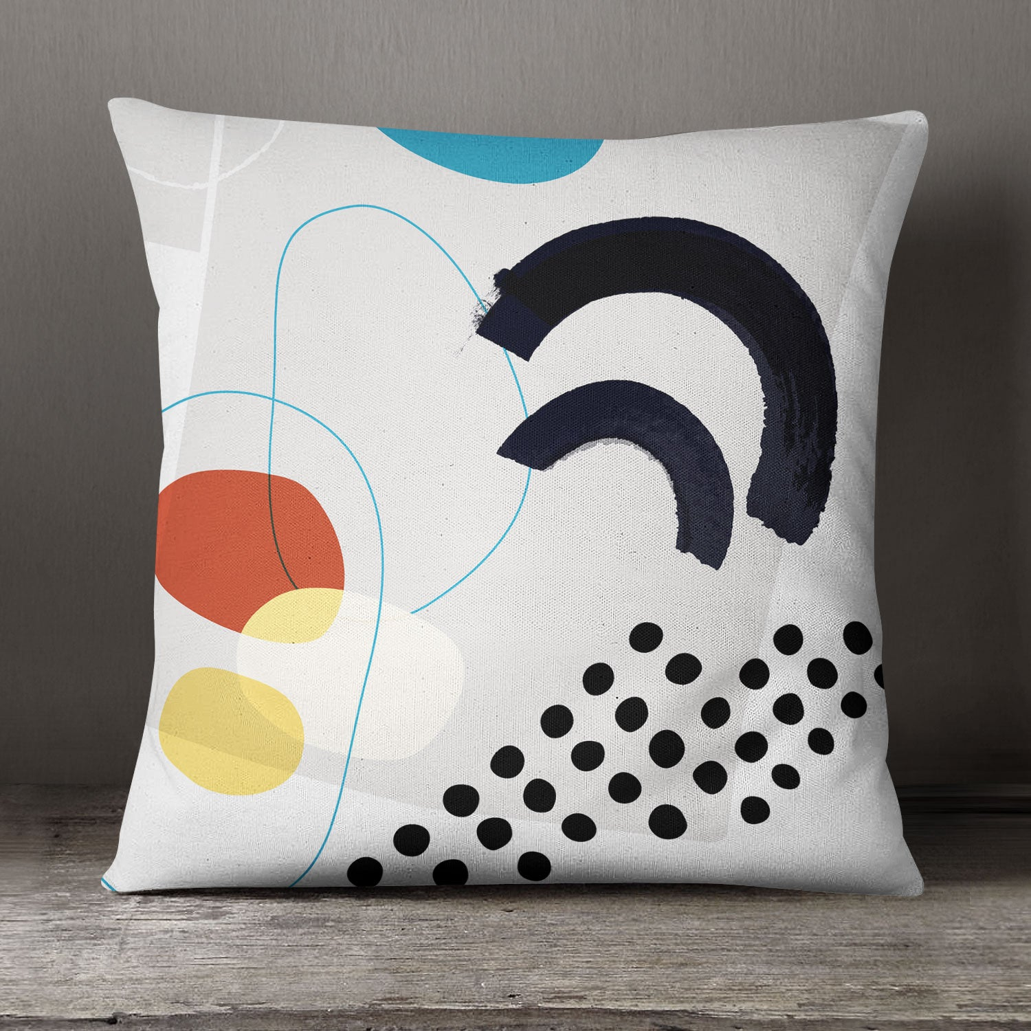 Image of Shape & Hue Square Pillow