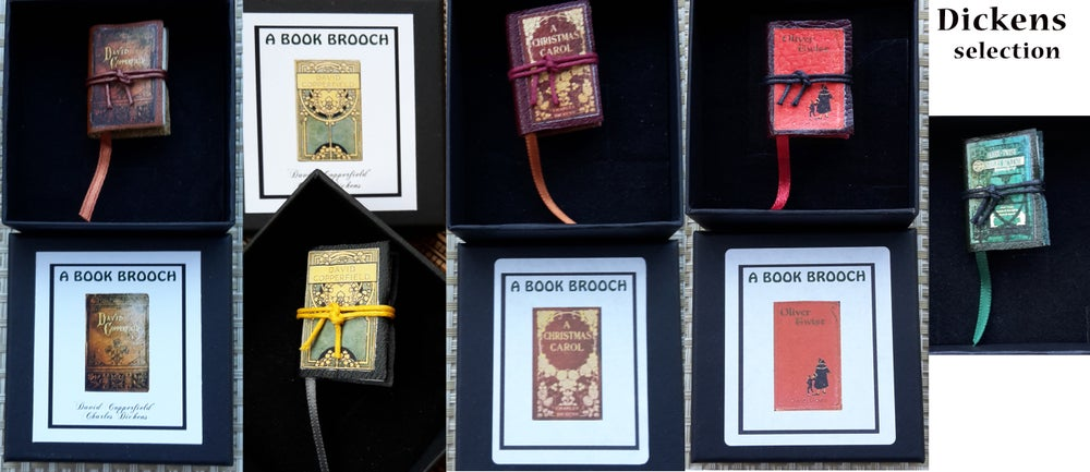 Image of Miniature Book Brooches -Little Women etc