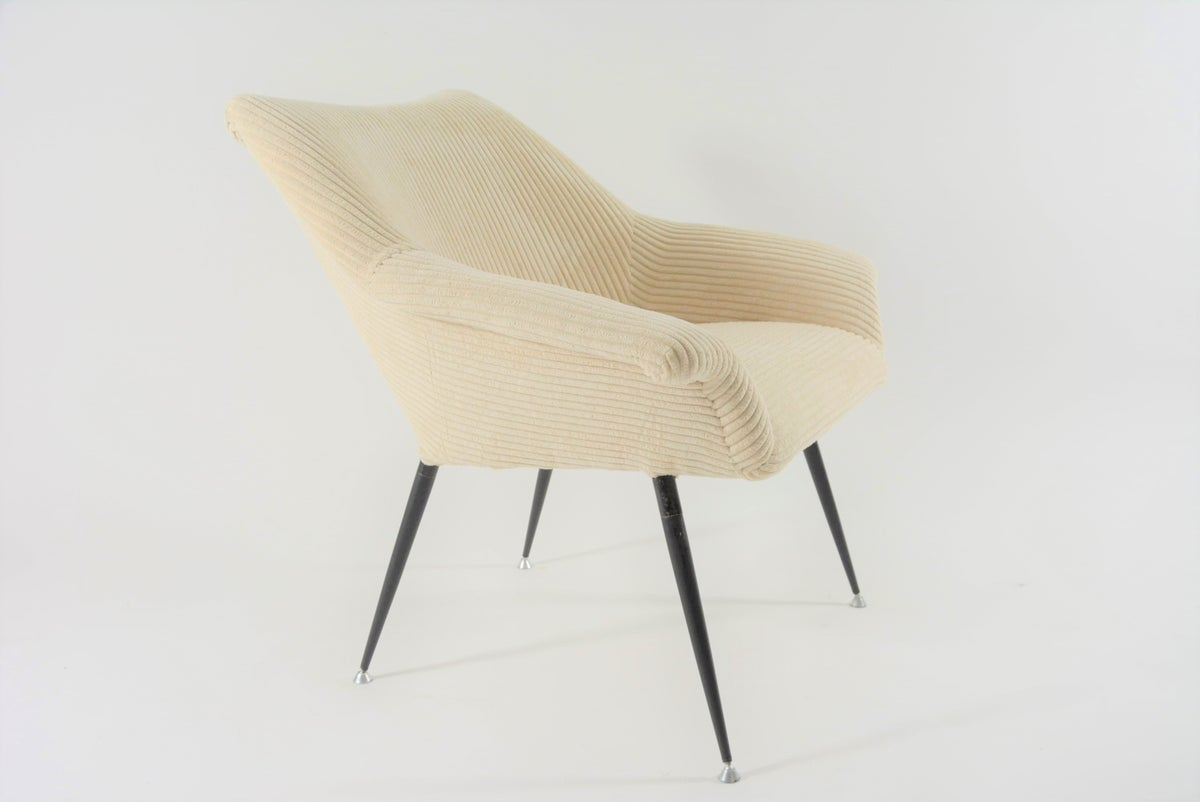 Image of Fauteuil Coquille Carrée ivoire