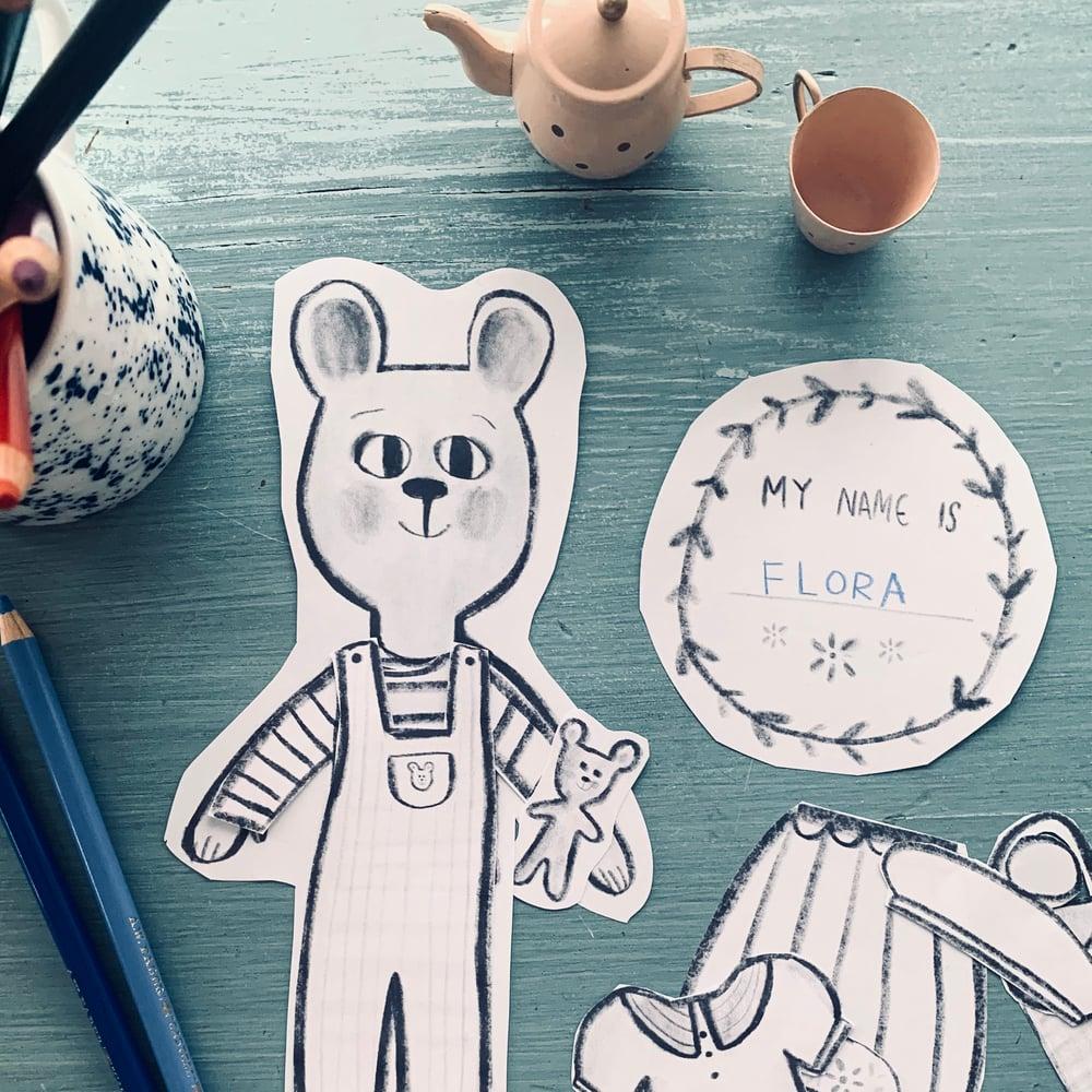 Image of Bear Paper Dolls