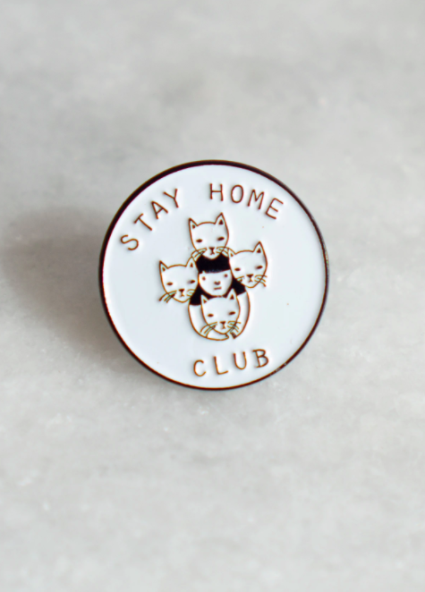 Image of Stay Home Club pin