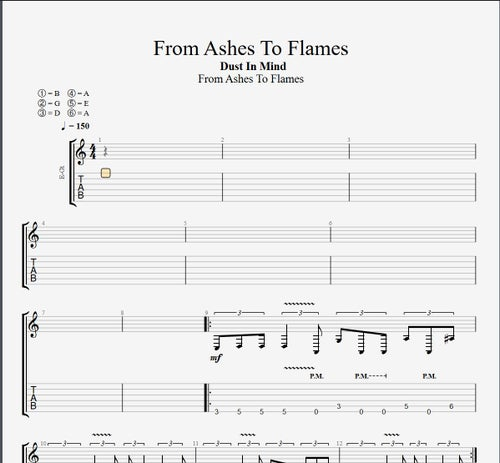 Image of GUITAR PRO TABS - From Ashes To Flames