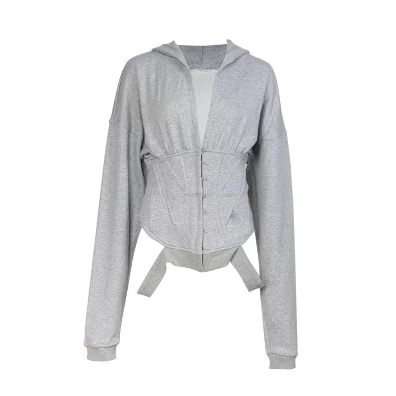 Image of Corset sweater hoodie