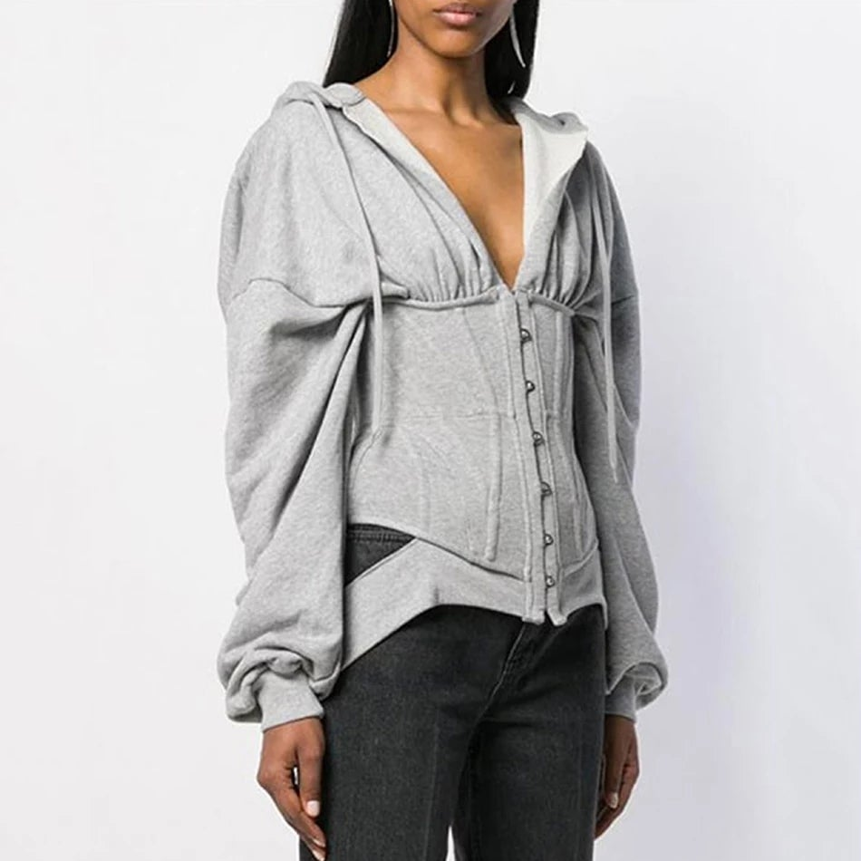 Image of Corset sweater hoodie