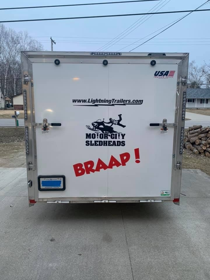 "Image of Motor City Sledheads (Trailer Decal 18""x24"")"