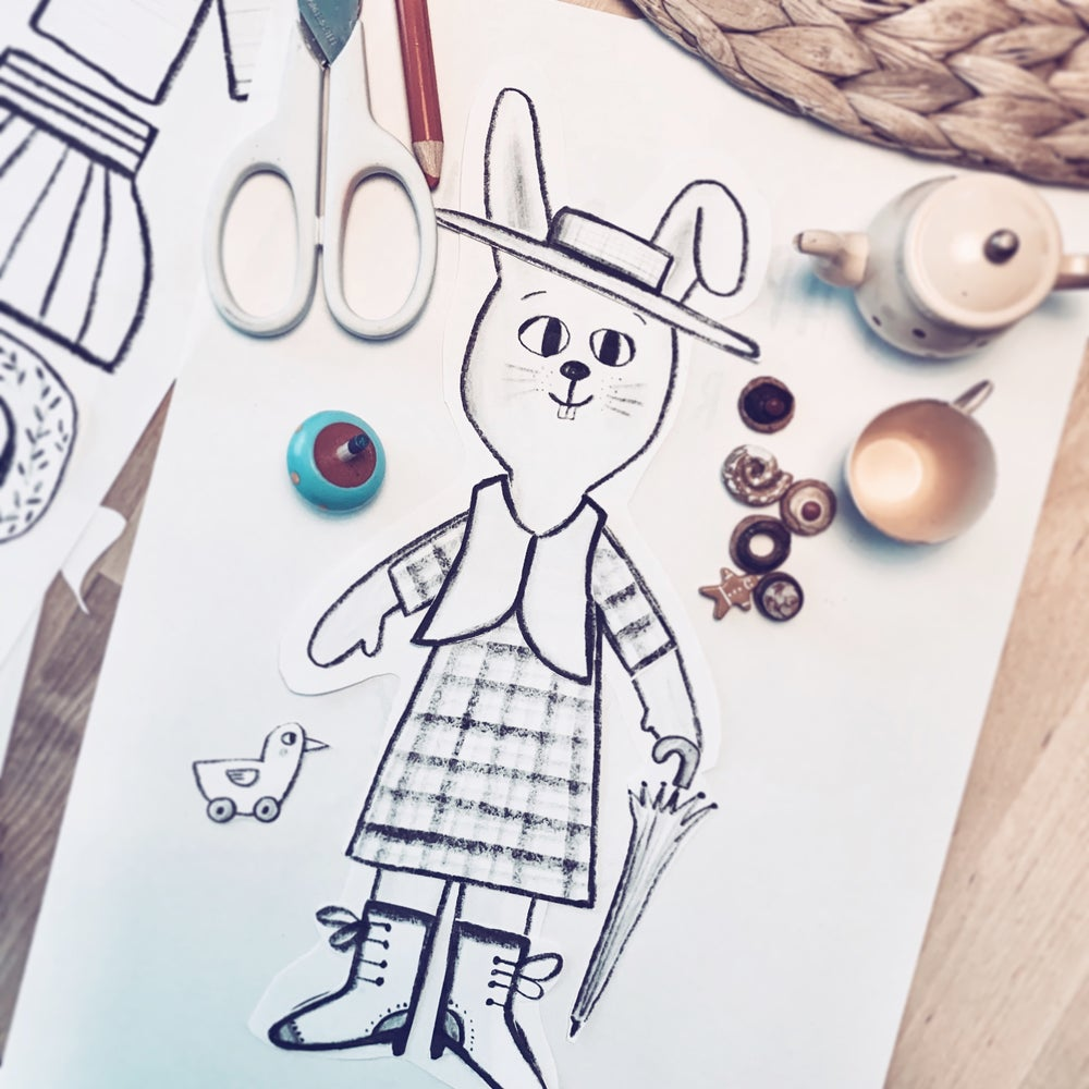 Image of Rabbit Paper Doll