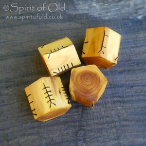 Image of Saxon yew Ballymote ogham dice (D231)