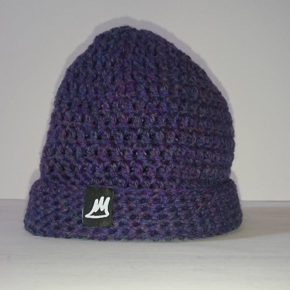 Image of Purple Heather Wool Beanie