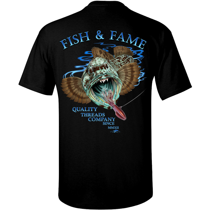 Image of Lingcod Tee (black)