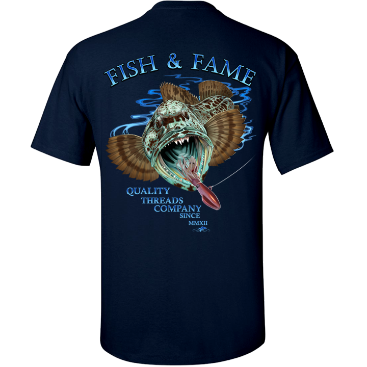 Image of Lingcod Tee (navy)