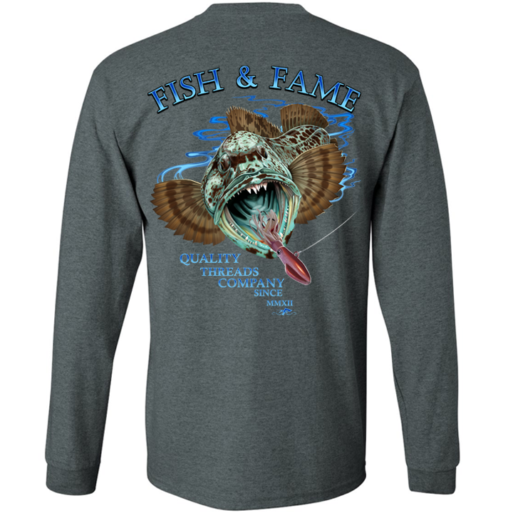 Image of Lingcod Long Sleeve (black heather)