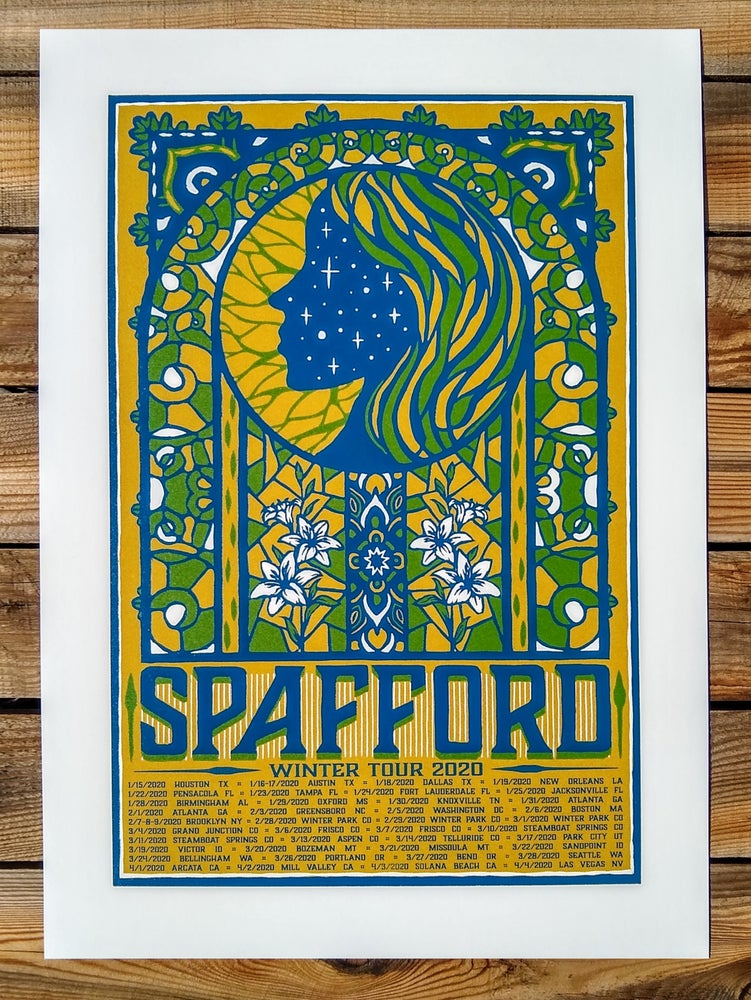 Image of Spafford Winter 2020 Tour Print Version 2