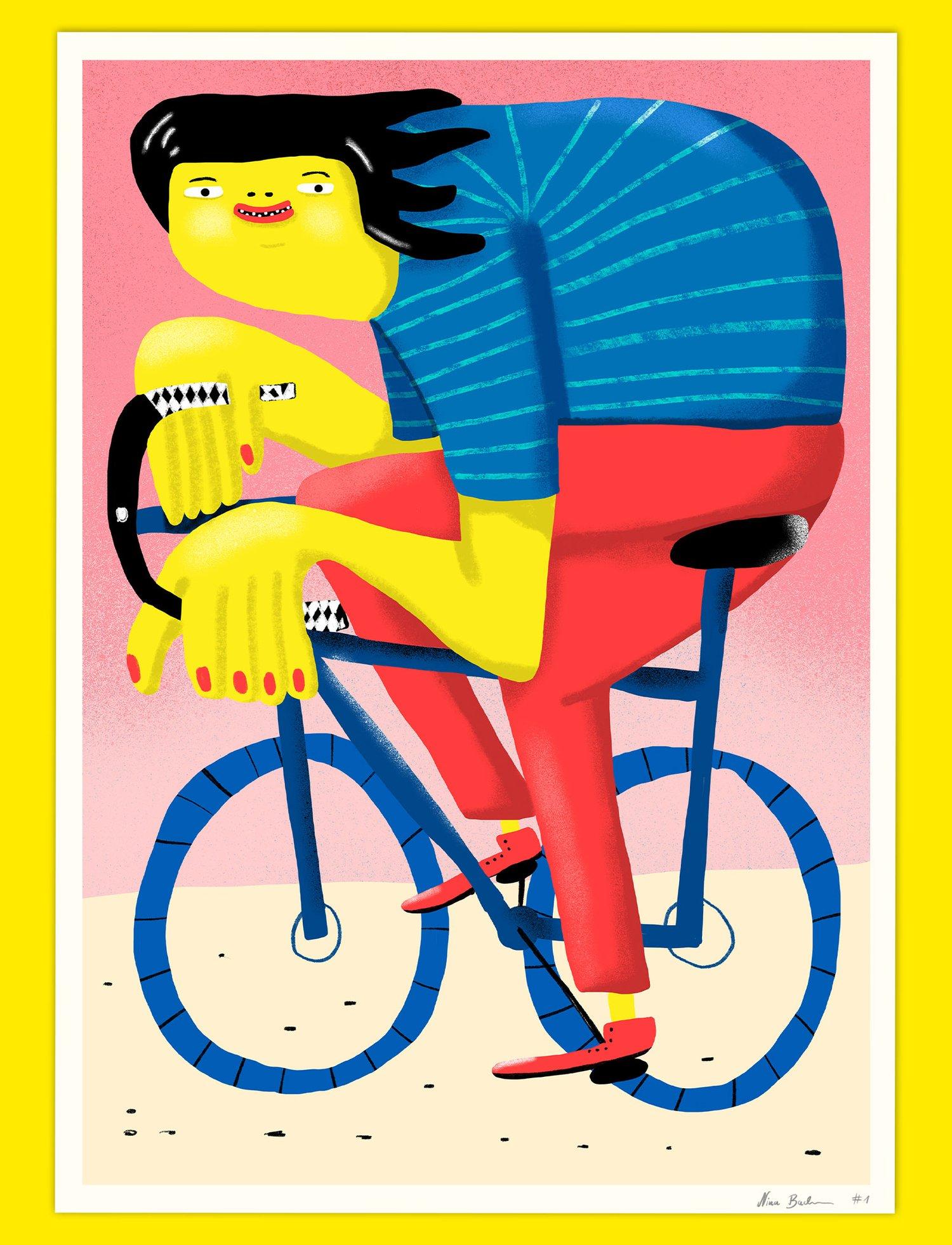 Happy Cycling Print