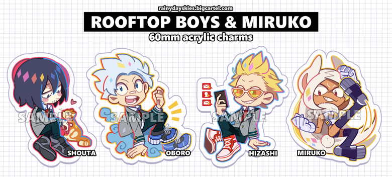 Image of Rooftop Boys Charms