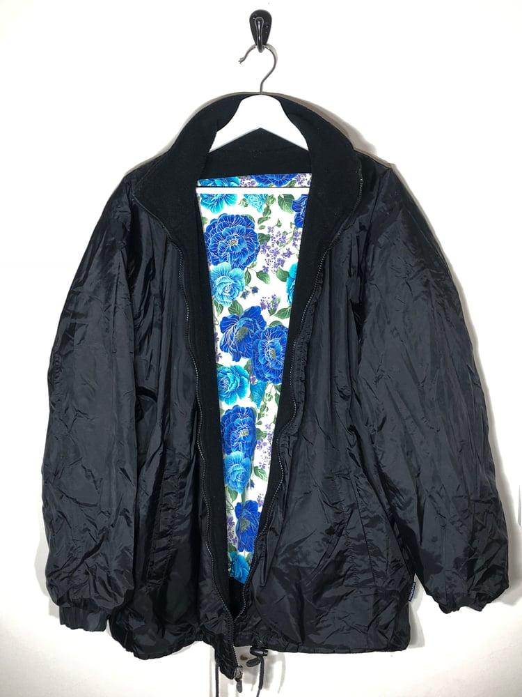 Image of Waterproof/fleece reversable floral coat