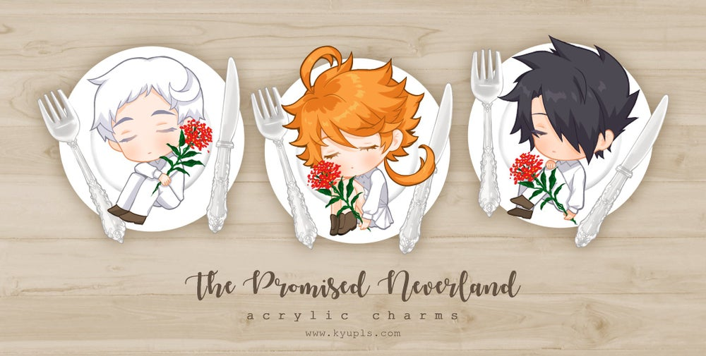 The Promised Neverland Charms - preorder