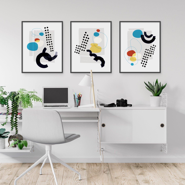 Image of Shape and Hue Series 2 — 3 Print Set