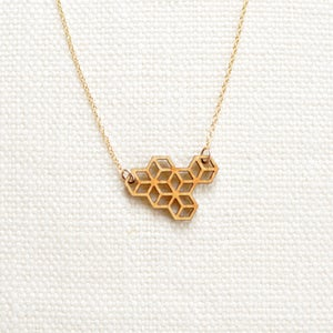 Image of Small Honeycomb Necklace