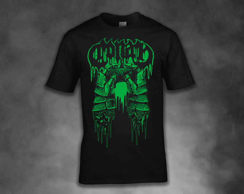 Image of WRATH GAUNTLET T SHIRT - GREEN / RED