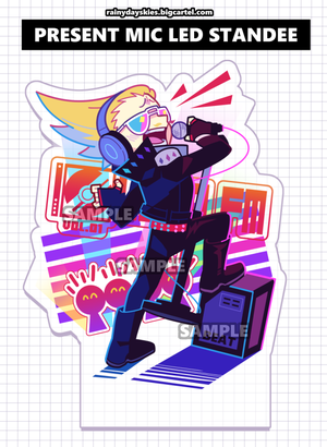 Image of Present Mic LED Standee