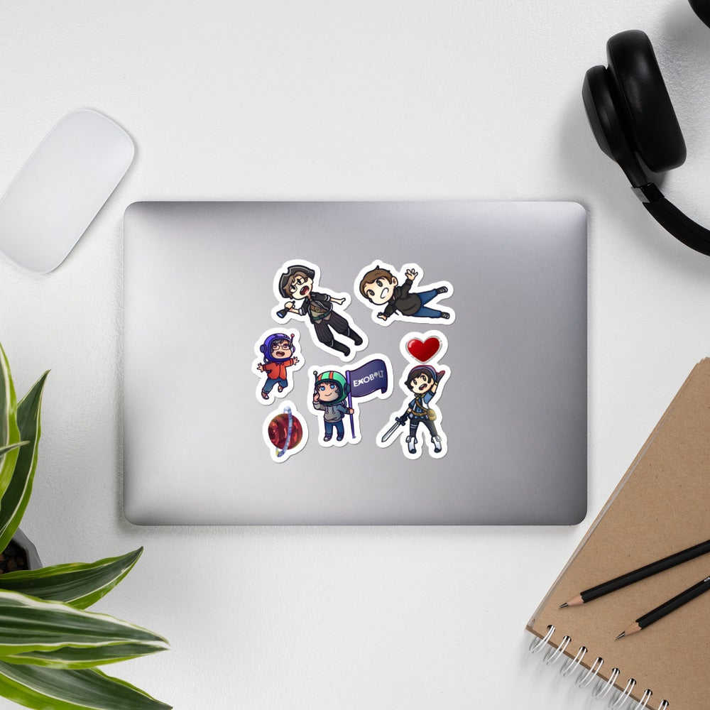 Image of Exobolt Limited Edition Character Sticker Pack