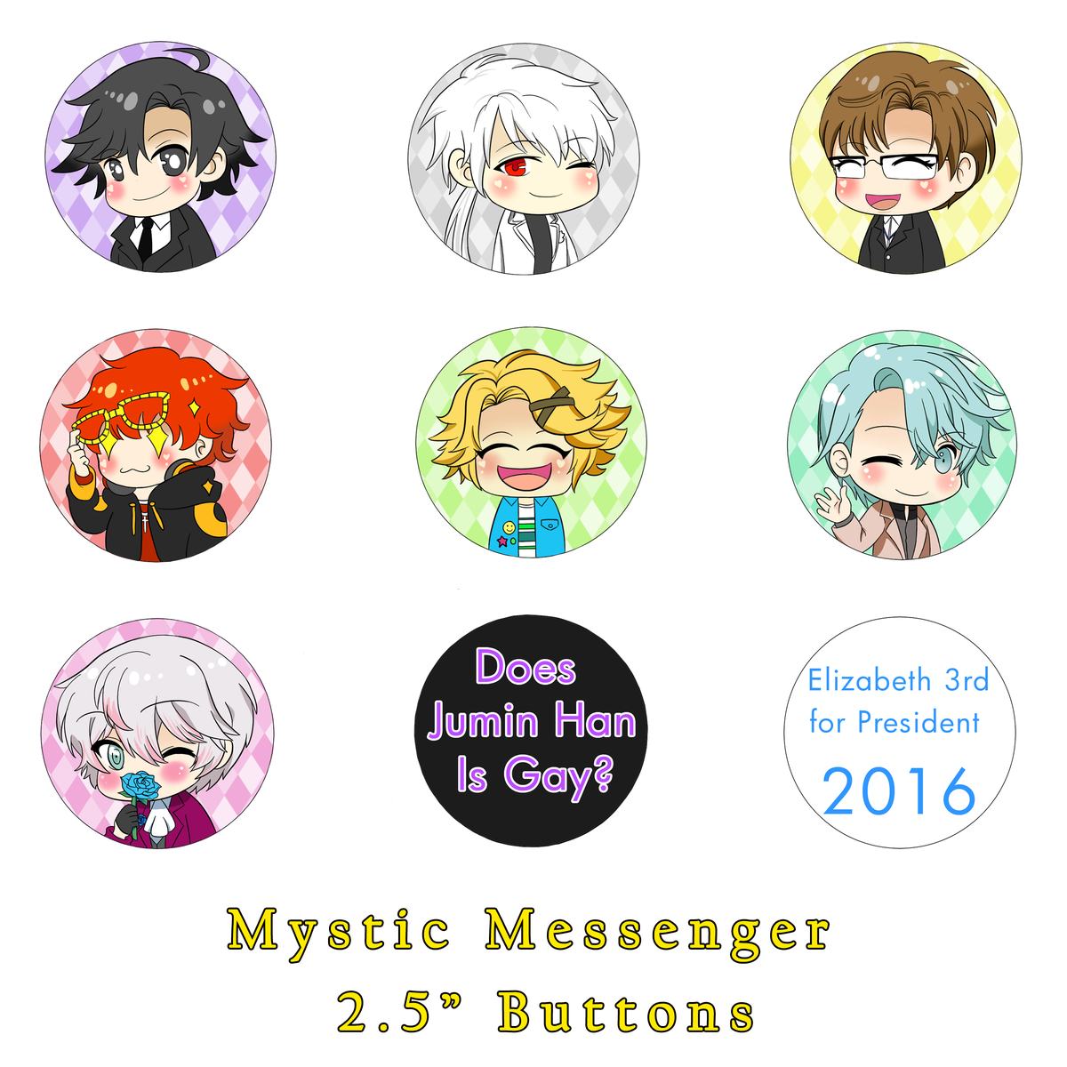Mystic Messenger Buttons