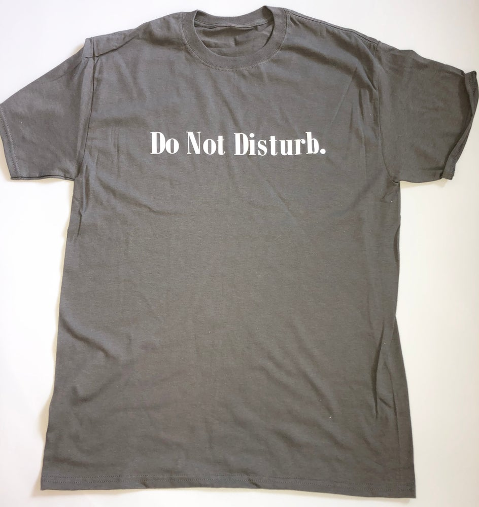 "Image of Everyday Do Not Disturb T Shirt ""Grey"""