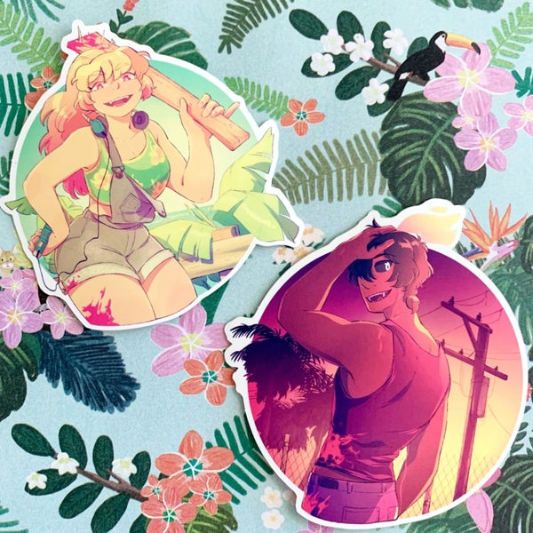 Image of Hot Summer sticker bundle