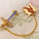 Image of Saint Sword collar pin