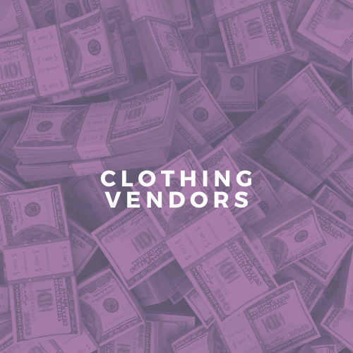 Image of Clothing Vendors List