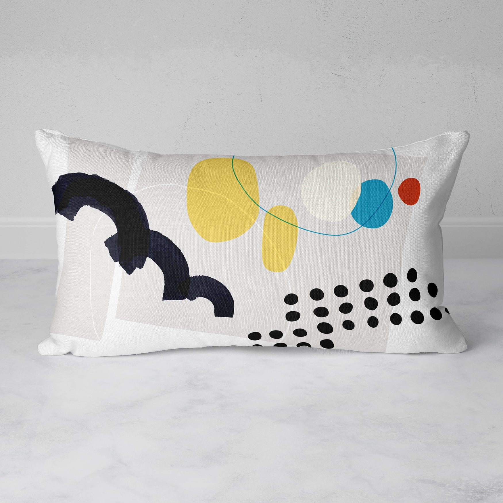 Image of Shape & Hue Rectangular Throw Pillow