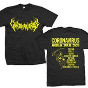 "Image of CORONAVIRUS ""World Tour 2020"" T-Shirt"